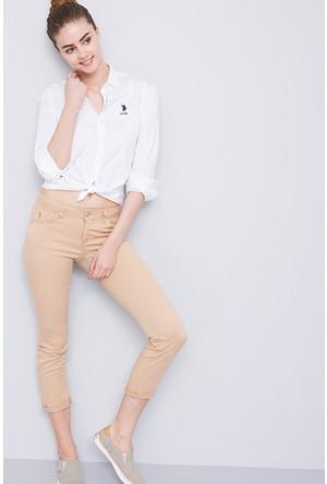 U.S. Polo Assn. Kadın Tina7Y Pantolon Bej