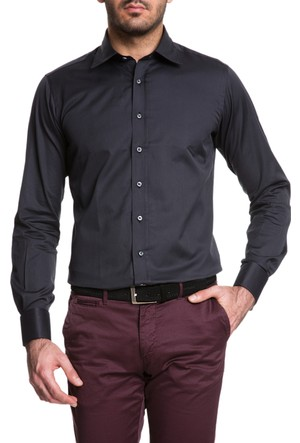 Cacharel Yeni Y98 Model Gömlek Siyah