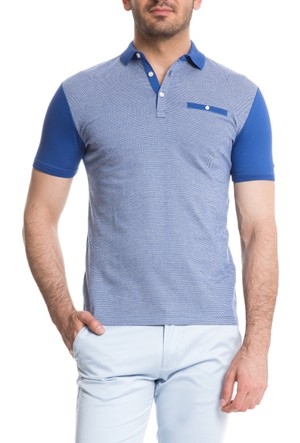 Cacharel Diane Polo Yaka T-Shirt Mavi