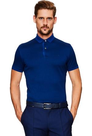 Cacharel Lilac Polo Yaka T-Shirt Lacivert