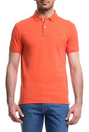 Cacharel Acar Polo Yaka T-Shirt Turuncu