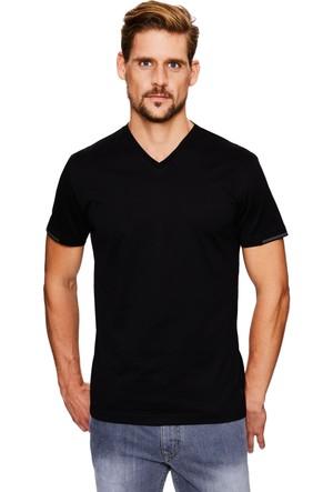 Cacharel Benifo V Yaka T-Shirt Siyah