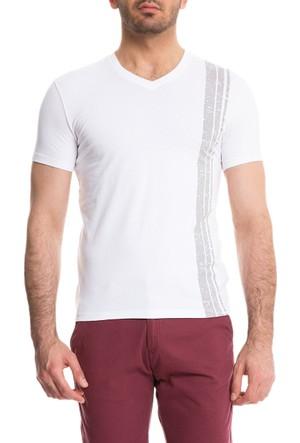 Cacharel Saint V Yaka T-Shirt Gri