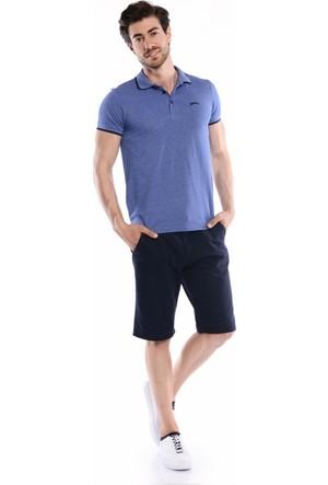 Slazenger Carly Erkek Polo Yaka Saks T-Shirt