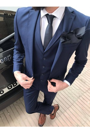 Oksit T. David Takım Elbise Kombin -Lacivert