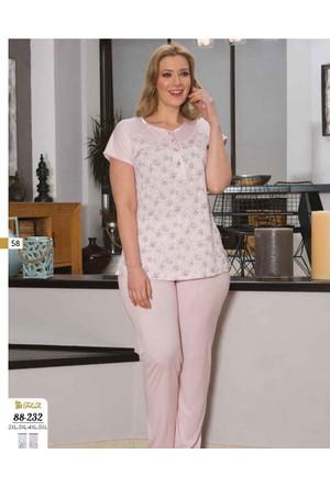 Flz Bayan Büyük Beden (Battal) Pijama Takımı 88-272 Xxl - Ekru