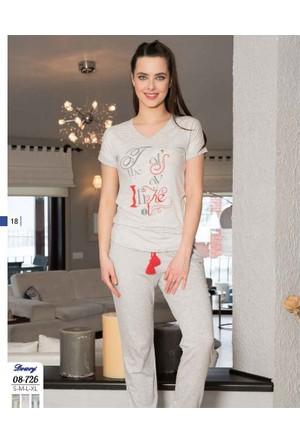 Dowry Bayan Pijama Takımı 08-726 Xl - Pembe