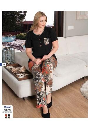 Dowry Büyük Beden (Battal) Pijama Takım 08-719 5Xl - Oranj