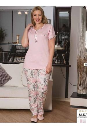 Flz Bayan Büyük Beden Battal Pijama Takımı 88-227 5Xl