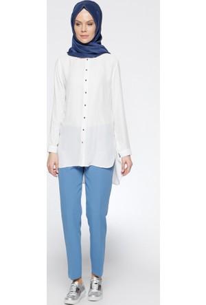 Klasik Pantolon - Mavi - Modesty