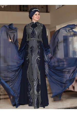 Aysira Abiye Elbise - Lacivert - Saliha