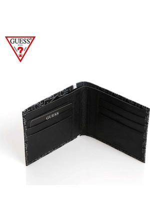 Guess Cüzdan Sm3006 Lea27 Heritage Sport Flat Black
