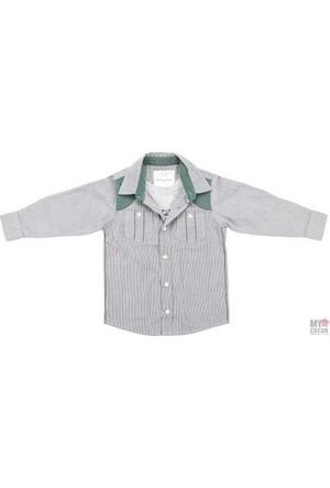 Modakids Nanica Erkek Çocuk Çizgili Uzun Kol Gömlek (4 - 8 Yaş) 001-5425 - 017
