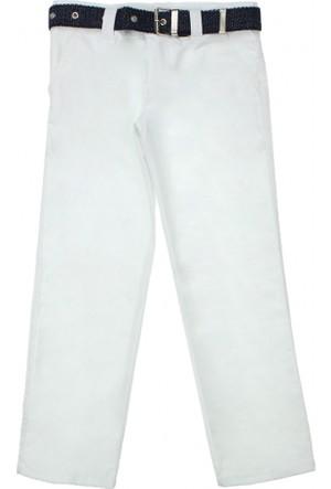 Modakids Erkek Çocuk Beyaz Keten Pantolon 037-104002-027