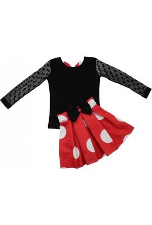 Modakids Kız Çocuk Kolları Tüllü Etekli Takım 037-874190-003
