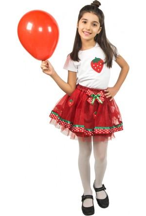 Modakids 23 Nisan Kız Çocuk Çilekli Takım