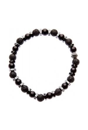 Elle No:043 Erkek Bileklik Siyah