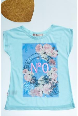 FullaModa Kız Çocuk Baskılı T-Shirt 17Y17AKKU0064