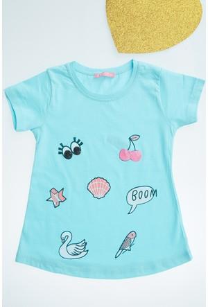 FullaModa Kız Çocuk Baskılı T-Shirt 17Y17AKKU0095