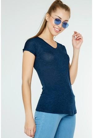 FullaModa Kırçıllı T-Shirt 17Y17ALAT0014