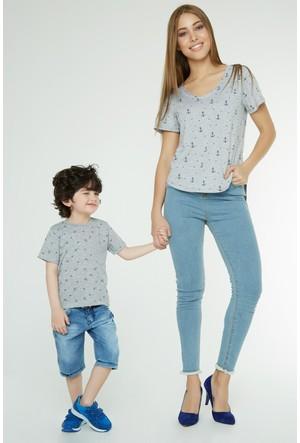 FullaModa Erkek Çocuk Desenli T-Shirt 17YALG0027