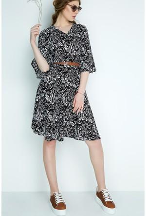 FullaModa Desenli Elbise 17YD&K0013