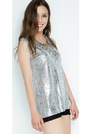 FullaModa V Yaka T-Shirt 17YFİRESH0006