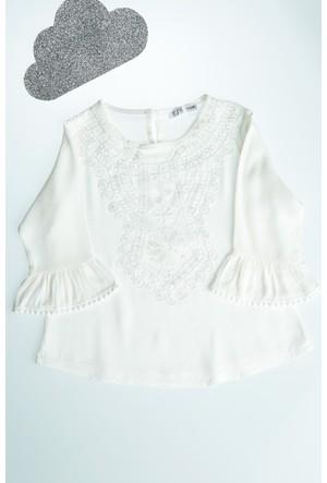 FullaModa Kız Çocuk Volanlı Bluz 17YGÜLER0112