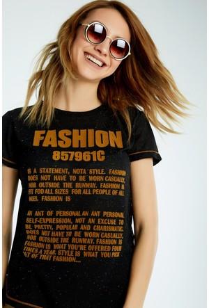 FullaModa Baskılı T-Shirt 17YMŞH0005