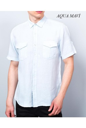 Cazador Erkek Keten Kısa Kol Gömlek Cdr 2614