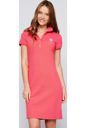 U.S. Polo Assn. Kadın Mts02İy07-075 Elbise Pembe