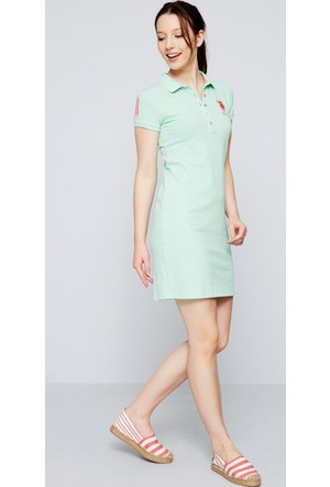 U.S. Polo Assn. Kadın Mts02İy07-075 Elbise Yeşil