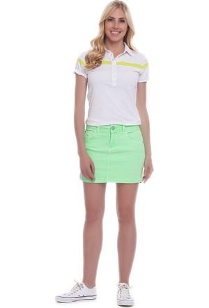U.S. Polo Assn. Kadın Yıkamalı Etek Yeşil