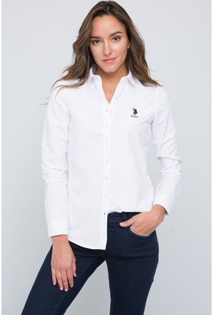 U.S. Polo Assn. Kadın Wox17Y Gömlek Beyaz