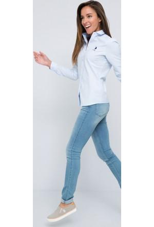 U.S. Polo Assn. Kadın Wox17Y Gömlek Açık Mavi