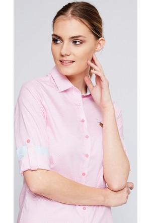 U.S. Polo Assn. Kadın Elvera Gömlek Pembe