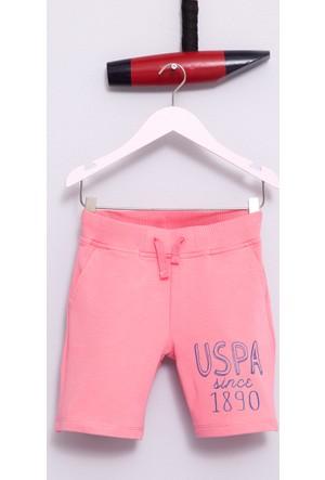 U.S. Polo Assn. Kız Çocuk Gover Şort Pembe