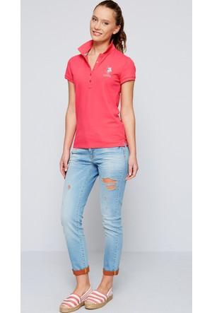 U.S. Polo Assn. Kadın Mts02İy07-011 T-Shirt Fuşya
