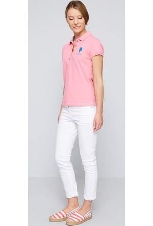 U.S. Polo Assn. Kadın Mts02İy07-011 T-Shirt Pembe