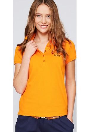 U.S. Polo Assn. Kadın Mts02İy07-011 T-Shirt Turuncu