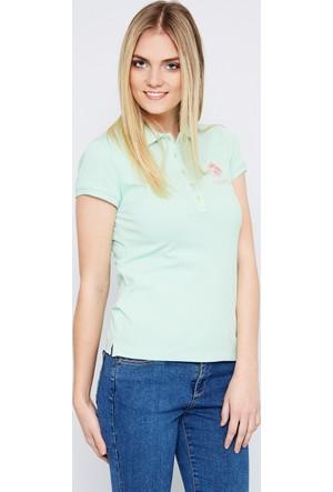 U.S. Polo Assn. Kadın Mts02İy07-011 T-Shirt Yeşil