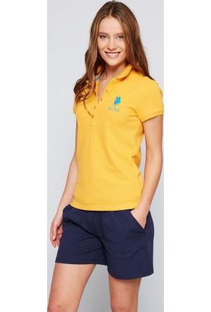 U.S. Polo Assn. Kadın Mts02İy07-011 T-Shirt Sarı