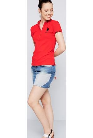 U.S. Polo Assn. Kadın Sd01İy07-011 T-Shirt Kırmızı