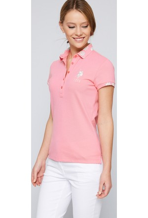 U.S. Polo Assn. Kadın Sd01İy07-011 T-Shirt Pembe