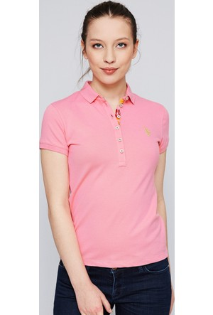 U.S. Polo Assn. Kadın Rp01İy07-011 T-Shirt Pembe