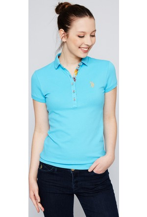 U.S. Polo Assn. Kadın Rp01İy07-011 T-Shirt Turkuaz