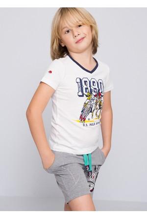 U.S. Polo Assn. Erkek Çocuk Luismi T-Shirt Gri Melanj