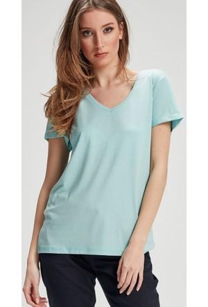 Vena Boyfriend T-Shirt Turkuaz 1402705