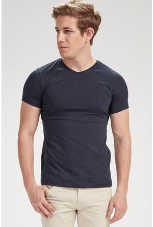 Vena Nick V Yaka Kısa Kol T-Shirt Lacivert 1402714