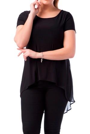 Francesca Ettore SF-1221 Siyah Büyük Beden Bayan Bluz